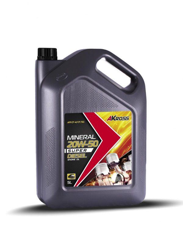Масло дизельное AKross SUPER DIESEL 20W-50 CF-4/CF/SG 5л