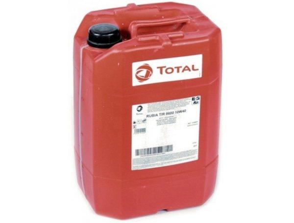 Масло дизельное Total RUBIA 8600 10W-40 CF E4/E7 синтетика 20л