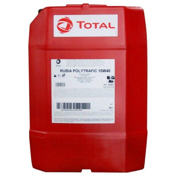 Масло моторное Total RUBIA POLYTRAFIC 10W-40 CI-4/SL A3/E7 полусинтетика 20л