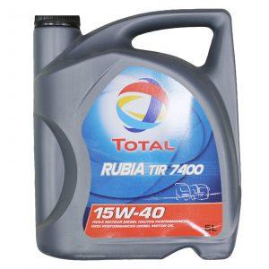 Масло моторное Total RUBIA TIR 7400 15W-40 CI-4/SL E5/E7 полусинтетика 5л