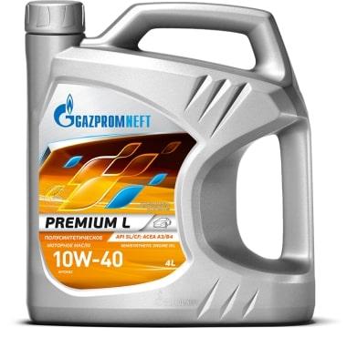 Масло моторное GAZPROMNEFT Premium L 10W-40 SL/CF полусинтетика 4л