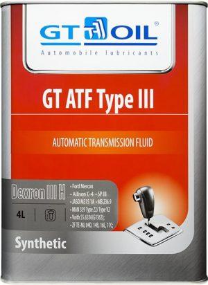 Масло трансмиссионное GT OIL ATF Type III, Dexron III (H) 4л
