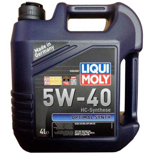 Масло моторное LIQUI MOLY Optimal Synth 5W-40 SN/CF A3/B4 3926 синтетика 4л