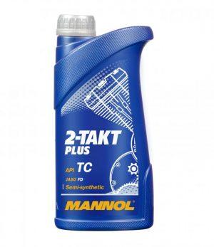 Масло двухтактное MANNOL 2-ТАКТ PLUS ТС полусинтетика 1л