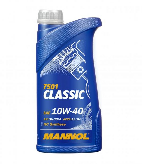 Масло моторное MANNOL Classic 10W-40 SN/CF A3/B4 1л