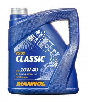 Масло моторное MANNOL Classic 10W-40 SN/CF A3/B4 4л