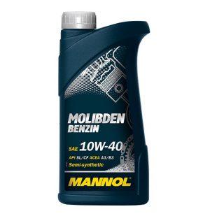 Масло моторное MANNOL Molibden Benzin 10W-40 SL/CF A3/B3 1л