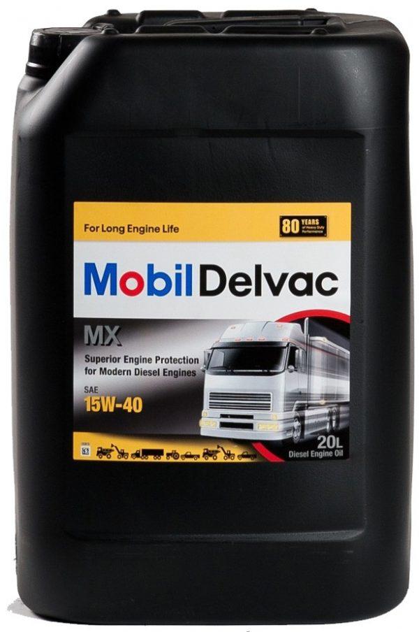 Масло дизельное Mobil Delvac МХ 15W-40 CI-4/CH-4/SL/SJ E7, финское 20л