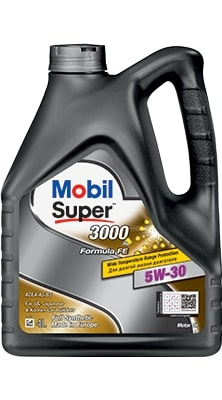 Масло моторное Mobil Super 3000×1 Formula FE 5W-30 A5/B5 SL синтетика 1л
