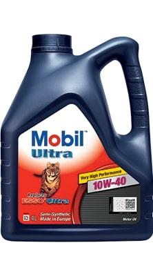 Масло моторное Mobil Ultra 10W-40 SL/CF A3/B3 полусинтетика, финское 4л