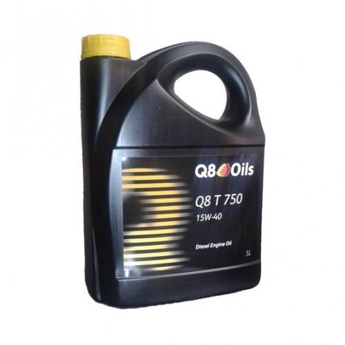 Масло дизельное Q8 T 750 15W-40 CI-4/SL А3/В3/B4/E3/E5/E7 5л