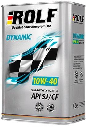 Масло моторное ROLF Dynamic 10W-40 SJ/CF полусинтетика 20л