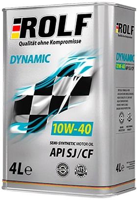 Масло моторное ROLF Dynamic 10W-40 SJ/CF полусинтетика 4л по цене 3л АКЦИЯ