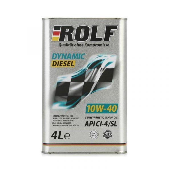 Масло дизельное ROLF Dynamic Diesel   (KRAFTON P5 U)  10W-40 CI-4/SL полусинтетика 4л