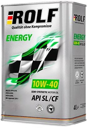 Масло моторное ROLF Energy 10W-40 SL/CF полусинтетика 1л