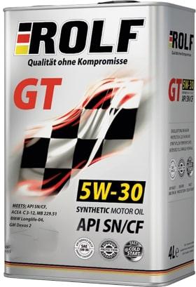 Масло моторное ROLF GT 5W-30 SN/CF синтетика 1л