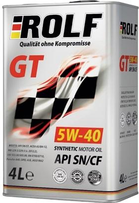 Масло моторное ROLF GT 5W-40 SN/CF синтетика 4л + 1л АКЦИЯ