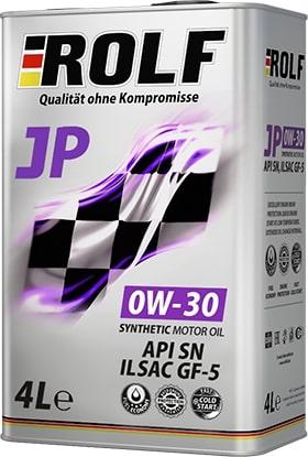 Масло моторное ROLF JP 0W-30 SN GF5 синтетика 4л