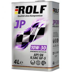 Масло моторное ROLF JP 10W-30 SN GF5 синтетика 4л по цене 3л АКЦИЯ