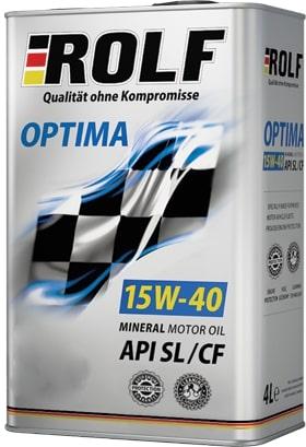 Масло моторное ROLF Optima 15W-40SL/CF полусинтетика 1л