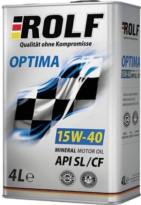 Масло моторное ROLF Optima 15W-40SL/CF полусинтетика 4л