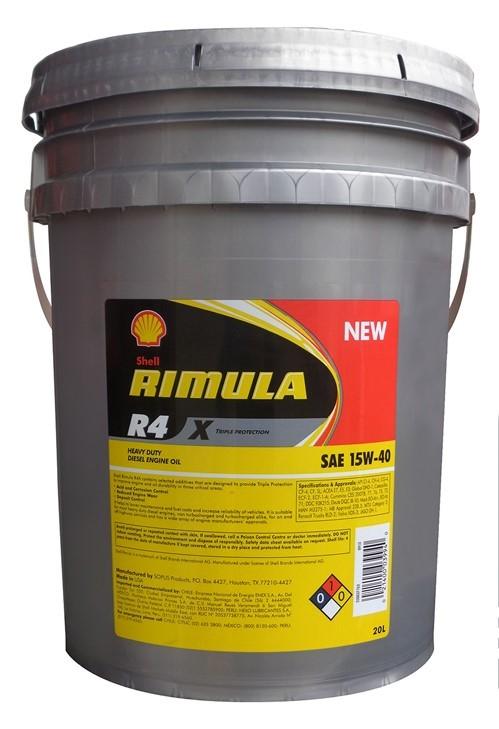 Масло дизельное Shell Rimula R4 X 15W-40 CI-4/CH-4/CG-4/CF-4/CF/SL E7/E5/E3 20 литров