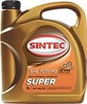 АКЦИЯ! Масло моторное SINTOIL Супер 10W-40 SG/CD полусинтетика 4л по цене 3л