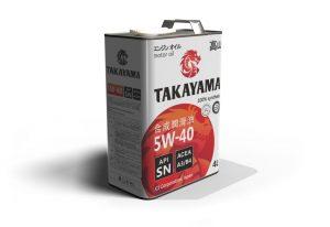Масло моторное TAKAYAMA 5W-40 SN/CF A3/B4 синтетика 4л