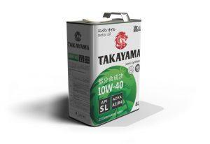 Масло моторное TAKAYAMA 10W-40 SL A3/B4 полусинтетика 4л