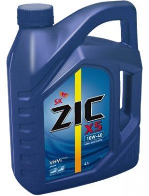 Масло дизельное ZIC Х5 10W-40 API SN  полусинтетика 4л