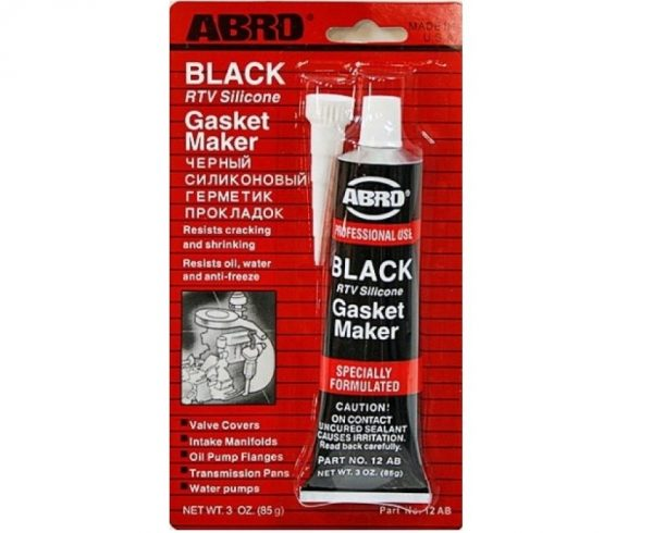 Герметик прокладок силиконовый ABRO 12-AB черный 85гр