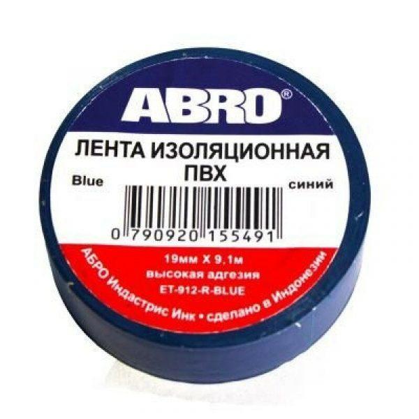 Изолента ABRO ET-912-R-BLUE синяя
