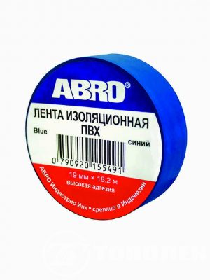 Изолента ABRO ET-912-20-R-BLUE синяя 20м