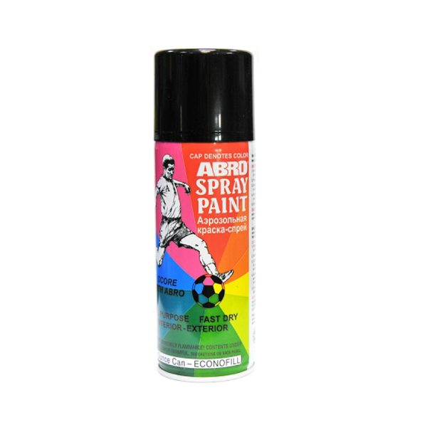 Краска-спрей ABRO 11 черная глянцевая 226г