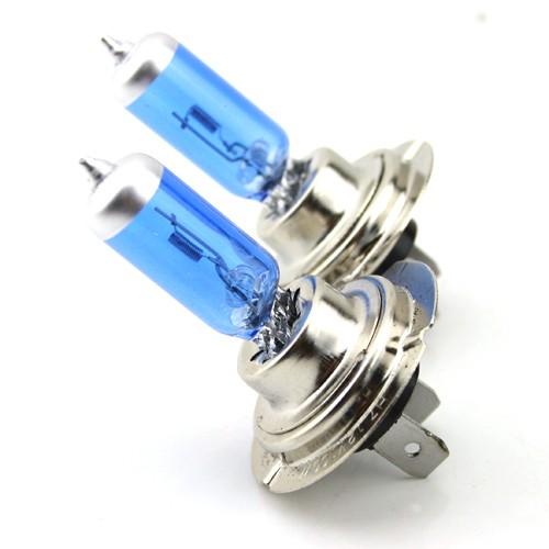 Автолампа галогенная ДИАЛУЧ 12557 BLUE H7 12V 55W PX26d, голубая, дальний/ближний свет