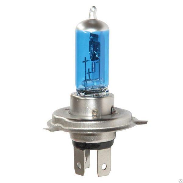 Автолампа галогенная ДИАЛУЧ 12604 BLUE-2 H4 12V 60/55W P43t, голубая, дальний/ближний свет, уп.2шт
