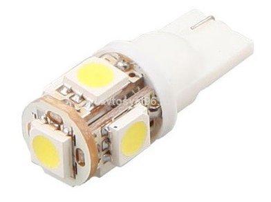 Автолампа светодиодная ДИАЛУЧ 92121 SMD 5 12V 5W 12V W2.1×9.5D, белая, 5SMD, уп.100шт
