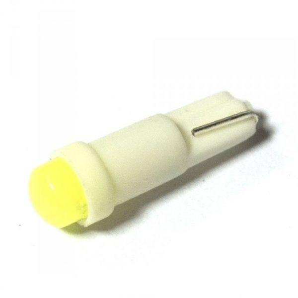 Автолампа светодиодная ДИАЛУЧ 92707 COB 1 12V 12V 1.2W W2х4,6D 1COB белая, уп.100шт