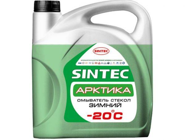 Стеклоомывающая жидкость SINTEC Арктика -20 4л фирменная канистра