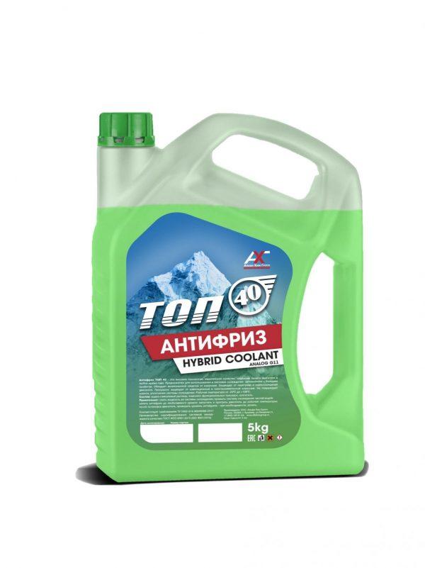 Антифриз ТОП-40 G11 зеленый 5кг