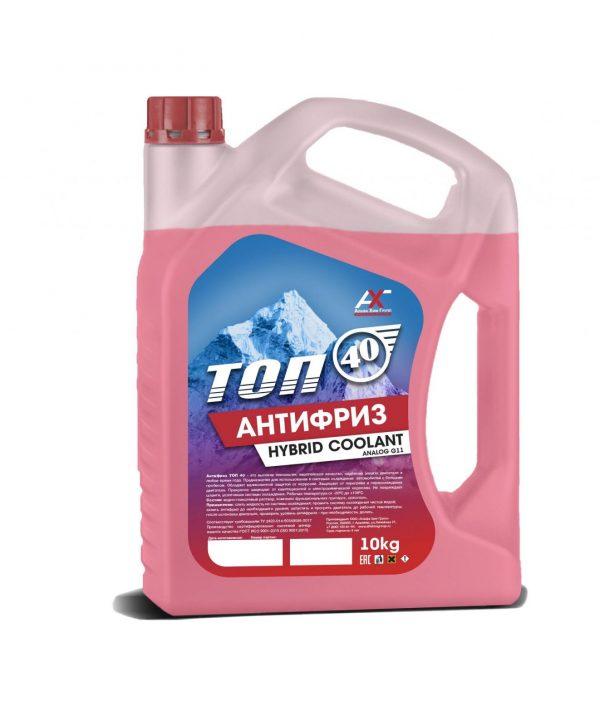 Антифриз ТОП-40 G11 красный 10кг