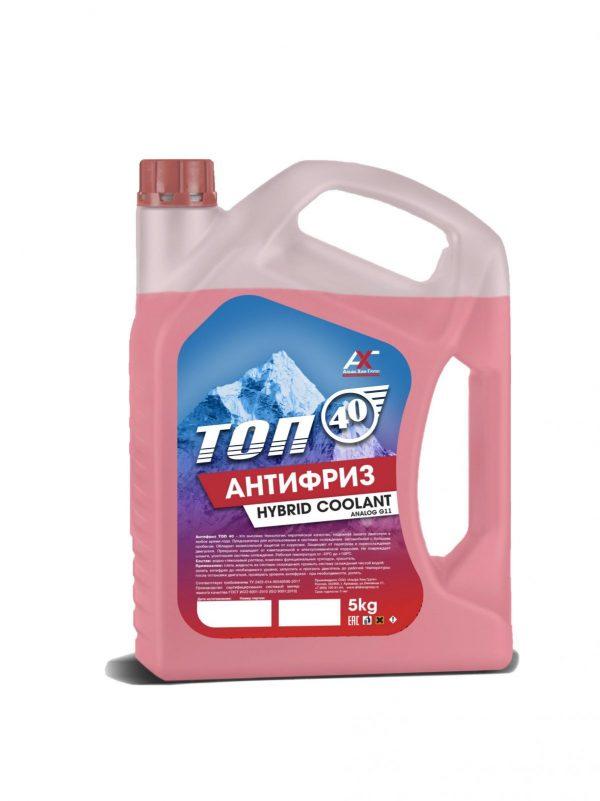 Антифриз ТОП-40 G11 красный 5кг