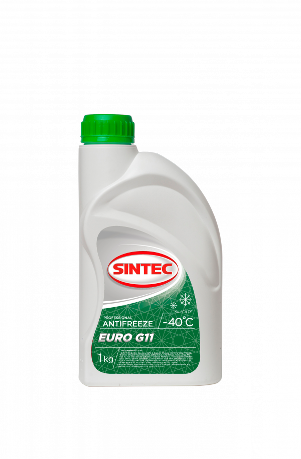 Антифриз SINTEC EURO G11 зеленый 1кг