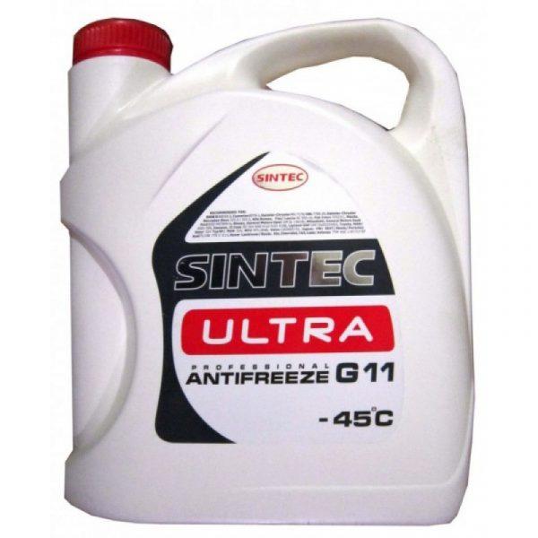 Антифриз SINTEC ULTRA G11 красный 5кг
