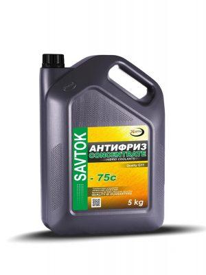 Антифриз SAVTOK CONCENTRATE -75 G11 присадки BASF зеленый 5кг (серая канистра)