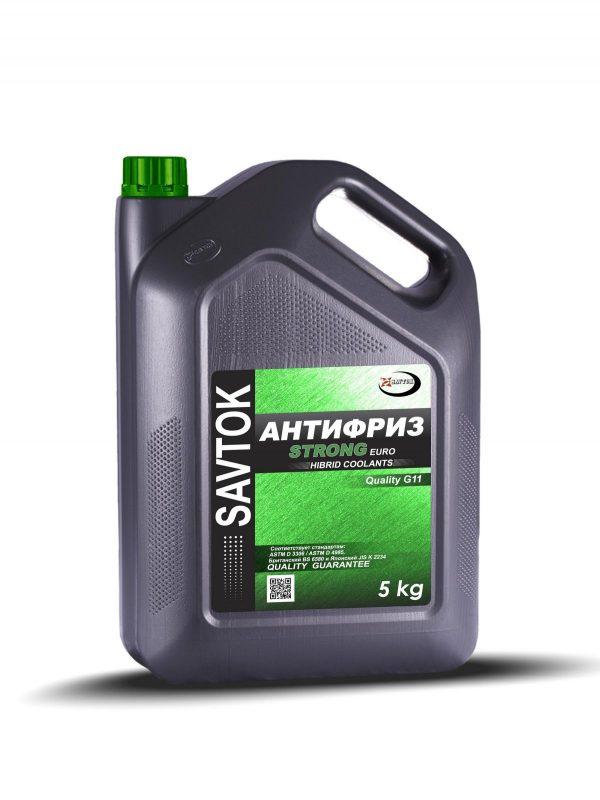 Антифриз SAVTOK EURO STRONG G11 зеленый 5кг