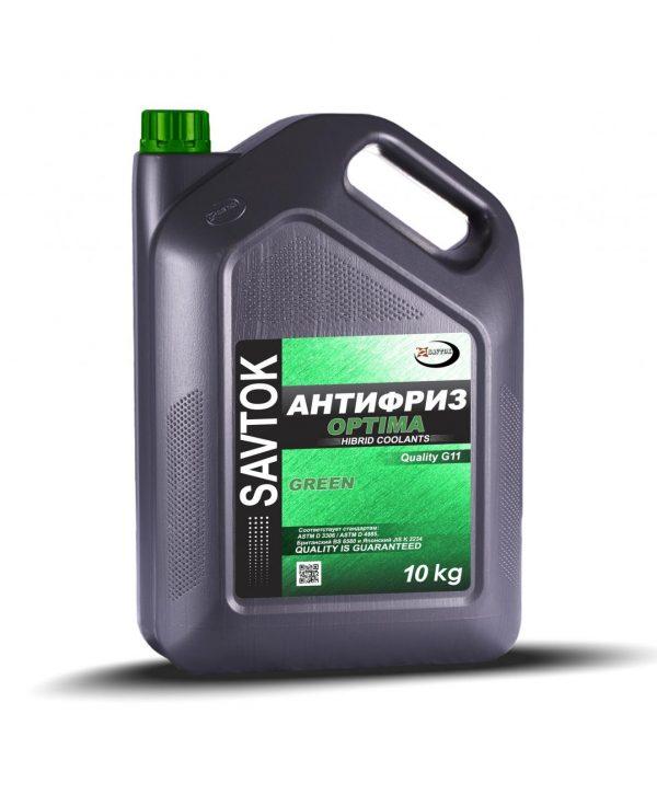 Антифриз SAVTOK OPTIMA G11 зеленый 10кг
