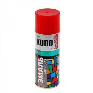 Эмаль KUDO KU-1003 красная глянцевая универсальная 520мл