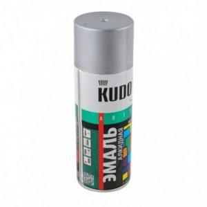 Эмаль KUDO KU-1018 серая глянцевая универсальная 520мл