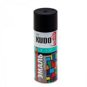 Эмаль KUDO KU-1102 черная матовая универсальная 520мл